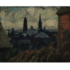 Gloucester towers by John French Sloan