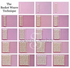 A tutorial by SweetAmbs on how to use the basket weave icing technique. Iced Cookies, Easter Cookies, Royal Icing Cookies, Cookies Et Biscuits, Sugar Cookies, Cake Decorating Techniques, Cake Decorating Tutorials, Cookie Decorating, Basket Weave Cake