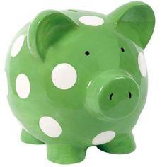Color Verde - Green!!! Piggy Bank