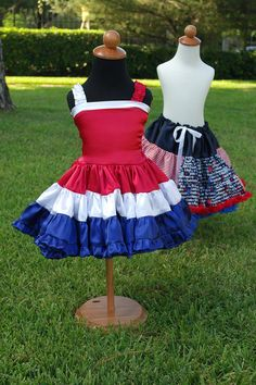 Red White and Blue Patriotic Dress by SCbydesign on Etsy