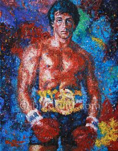 Sylvester Stallone Rocky 3 Balboa art print 12x16 by billpruittart #RockyBalboa #Rocky3
