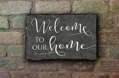 Greet your guests with this beautiful Welcome to our Home sign.! This distinctive slate will brighten up the front of your house, or any room! Using a hand-cut, fine-grained slate, this sign is perfect for placing on your porch, at the bottom of the driveway, or hanging from your house or garage.  This slate is approximately 11.5 x 7.5. As this is a hand-crafted item, the dimensions may vary slightly. We use a process called dye sublimation printing which results in an incredibly high…