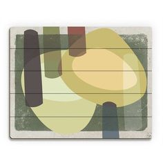 """Click Wall Art Green Drums Graphic Art on Plaque Size: 20"""" H x 24"""" W x 1"""" D"""