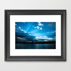 Rays of Sunshine After the Storm Framed Art Print