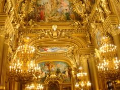 In the grand hall. Opera, Old Things, Fair Grounds, Paris, Montmartre Paris, Opera House, Paris France