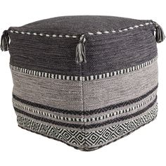 Surya Trenza Charcoal Pouf ($305) ❤ liked on Polyvore featuring home, furniture, ottomans, charcoal furniture, dark grey furniture, dark gray furniture, diamond furniture and charcoal gray furniture
