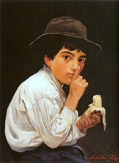 Boy with a banana - Jose Ferraz de Almeida Junior, 1897