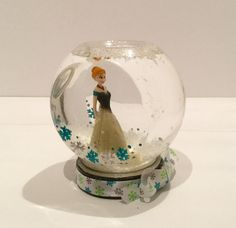 Personalized Disney Frozen Snow Globe  Anna by GingerspiceStudio