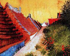 """Vincent Van Gogh - Post Impressionism - Arles - Saintes-Maries - La rue 2 -  """"Je veux arriver à un dessin plus volontaire et plus exagéré."""" V.Van Gogh  Be Sure To Visit:  http://universalthroughput.imobileappsys.com/"""