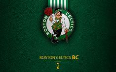Download wallpapers Boston Celtics, 4k, logo, basketball club, NBA, basketball, emblem, leather texture, National Basketball Association, Boston, Massachusetts, USA, Atlantic Division, Eastern Conference