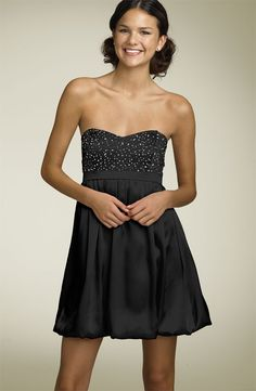 cute-black-strapless-homecoming-dress