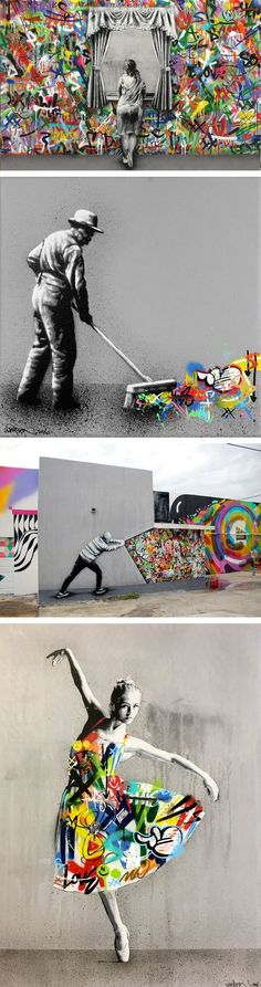 Stencil Art That Blends Graffiti and Decay by Martin Whatson