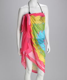 """Add a darling dash of island style to any ensemble with a simple twist of this gossamer sarong. The tropical hues are totally on trend and the versatile shape means it can be worn as a scarf too.37"""" x 62""""100% acrylicMachine washImported"""