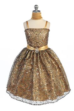 e99575007 Girls Dress Style Sleeveless Sequin and Charmeuse Sparkle Dress in Choice  of Color - Flower Girl Dress For Less