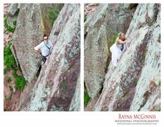 Sneak Peek: Eldorado Canyon State Park Wedding Photography - Lindsay and Ryan exchanged vowels on top of The Bomb on Wind Tower in Eldo on May Rock Climbing Wedding, Boulder Colorado, Park Weddings, Wedding Pictures, State Parks, Wedding Photography, Elopements, Tower, Adventure