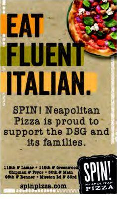 Alignment: SPIN! does a great job with playing with fonts and making their marketing very appealing to the eye. They used to fresh ingredients to make the pizza pop! Even though it's not all aligned. The way it is aligned in this picture makes it work. This is also very BOLD!