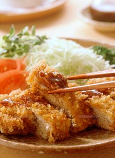Tonkatsu トンカツ with Shredded Cabbage