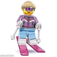 LEGO-Serie-8- NR 7 Abfahrtsläuferin downhill driver