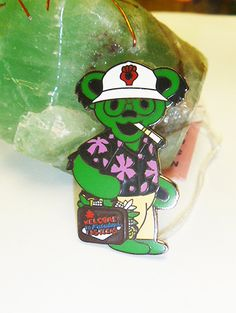 Grateful Dead Green Hunter Thompson Dancing by sherrishempdesigns