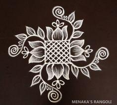 Simple Rangoli Border Designs, Indian Rangoli Designs, Rangoli Designs Latest, Rangoli Designs Flower, Free Hand Rangoli Design, Small Rangoli Design, Rangoli Designs With Dots, Pattern Design Drawing, Simple Flower Design