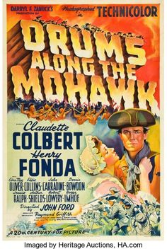 """Movie Posters:Adventure, Drums Along the Mohawk (20th Century Fox, 1939). One Sheet (27.25""""X 40.75""""). Style B.. ..."""