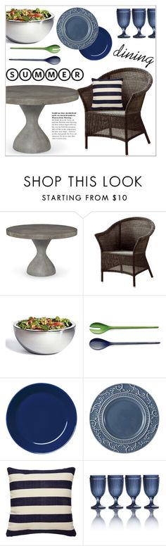 """""""summer outdoor dining"""" by sebi86 ❤ liked on Polyvore featuring interior, interiors, interior design, home, home decor, interior decorating, Casual Life Furniture, Frontgate, Kate Spade and iittala"""