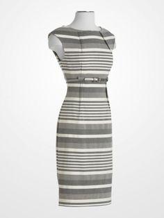 Calvin Klein Gray Stripe Dress