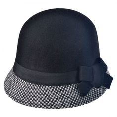 Checker Cloche Hat available at  VillageHatShop Hat Shop 614e775e8b5