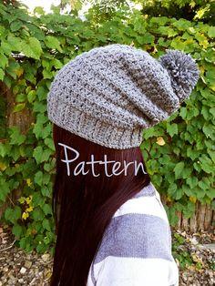 Slouchy crocheted hat (free pattern)  7112556312d