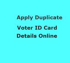 apply duplicate voter id online