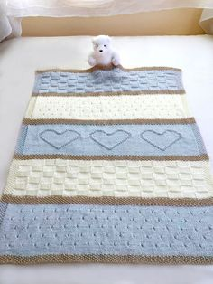 Babydecke Muster, stricken Babydecke Muster, Herz Babydecke Muster, Krippe Decke - Strickmuster von Deborah O&Knitting Patterns Blanket Pattern name: Baby Heart Blanket The pattern is written in English only. This adorable baby blanket …This itemizing i Knitting Basics, Easy Knitting Patterns, Crochet Blanket Patterns, Baby Blanket Crochet, Baby Patterns, Baby Knitting, Crochet Baby, Free Knitting, Baby Blanket Size