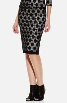 Vince Camuto Dot Stretch Lace Pencil Skirt available at #Nordstrom