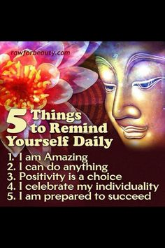 Positive thinking, This is a great list to practice daily and actually tell myself!