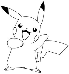 Pikachu From Pokemon GO Coloring Page