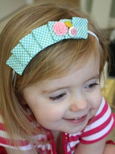 pleated fabric headband