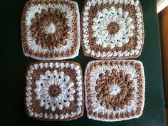 """Day 15: 6"""" Block of the Day - Antique Pearls Square by Priscilla Hewitt  Free Pattern: http://priscillascrochet.net/free%20patterns/Afghan%20Squares/Antique%20Pearls%20Square.pdf  June 2013 #TheCrochetLounge #6""""Square Pick"""