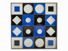 Victor Vasarely Unité Plastique Creation date: 1973 Edition: 75 Medium:porcelain plaque Size: 40.5 x 40.5 x 5 cm Signed and numbered