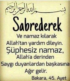 #KuranıKerim #Ayet #Kuran #islam- corek-otu-yagi.com Quotes About God, Motto, Quotations, Pray, Words, Live, Health, Fitness, Design