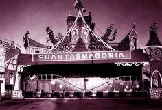 Phantasmagoria, photographed in 1973 just after it was installed at Bell's Amusement Park in Tulsa, Oklahoma, was a two-story Bill Tracy dar...