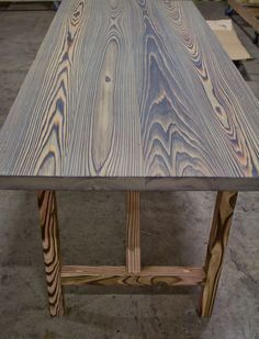 """shou-sugi-ban charred table by RSTco. - hardwax oil finish called """"DORO"""""""