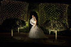 What a lovely evening at #TheOrangery. #Lights, #Wedding, #Love.