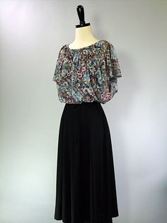 SALE Vintage 70s Dress / Floral / BOHO CHIC by FlyAwayVintageShop, $23.80