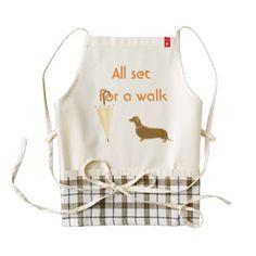 Custom Dog Walker Pet Lover Zazzle HEART Apron