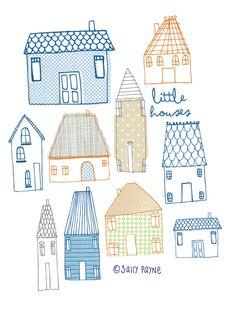 Illustration Houses-vanillatitch2014