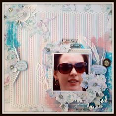 Single page layout created using our C105 Memory Lane Collection.