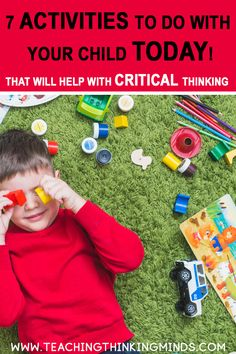 7 Crititcal activities you need to do, to ensure cognitive development in your child. These activities are easy to setup but so important for your child's Thinking Skills, Critical Thinking, Educational Activities, Preschool Activities, Teaching Aids, Art Lessons Elementary, Parenting Advice, Children, Middle School