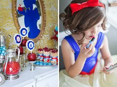 Super cute for a Snow White party!