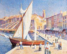 Maximilien Luce, The port of Saint Tropez, 1893