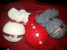 Palline rivestite con lana