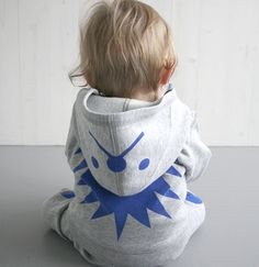 Ecky the Hedgehog Jogging Suit by hektigboutique. Thanks to @Yu Tahori! #Babies #Jogging_Suit #Hedgehog #hektikboutique
